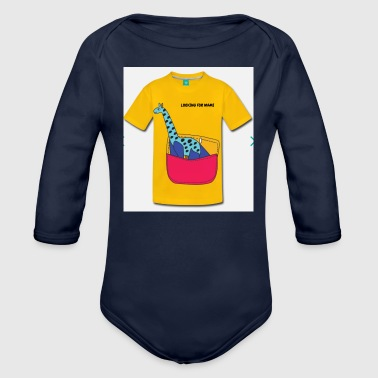 Mami looking for mami - Organic Long Sleeve Baby Bodysuit