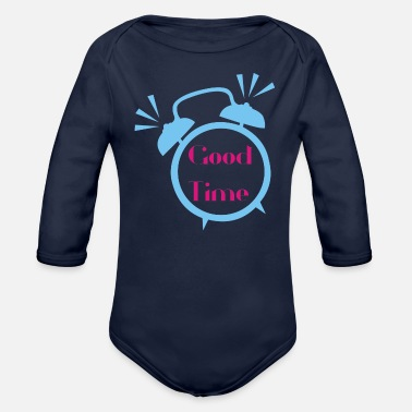Good Time good time - Organic Long-Sleeved Baby Bodysuit