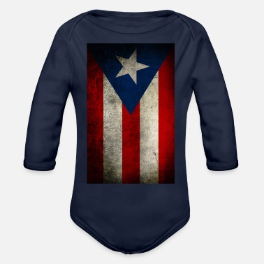 7199f418399b puerto rico flag vertical - Organic Long-Sleeved Baby Bodysuit
