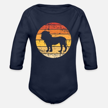 Kingdom Lion Silhouette - Organic Long-Sleeved Baby Bodysuit