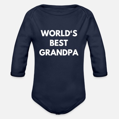 Best Grandfather Best Grandfather - Organic Long-Sleeved Baby Bodysuit