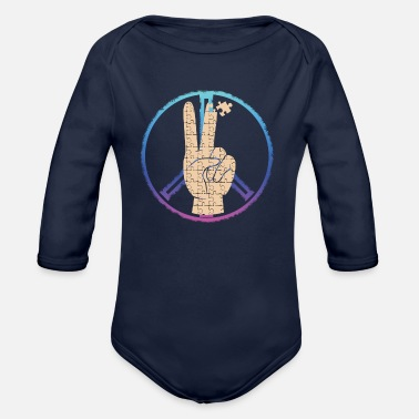Piece Peace by Piece - Organic Long-Sleeved Baby Bodysuit