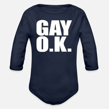 O K GAY O K - Organic Long Sleeve Baby Bodysuit