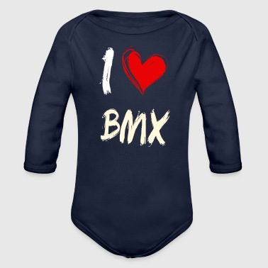 I love BMX - Organic Long Sleeve Baby Bodysuit