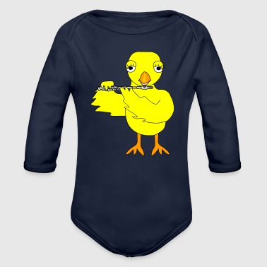 Piccolo Chick - Organic Long Sleeve Baby Bodysuit