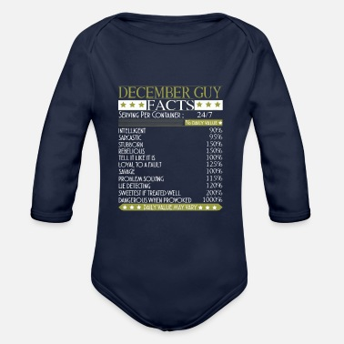Legends Are Born In December Facts December Guy Facts - Organic Long-Sleeved Baby Bodysuit