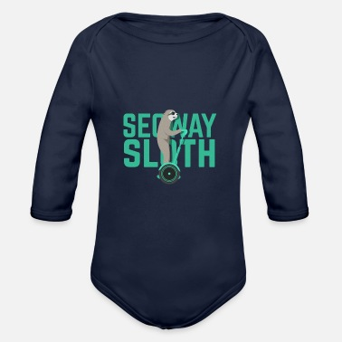 Scooter Segway Sloth - Organic Long-Sleeved Baby Bodysuit
