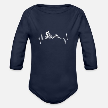 Courier Heart rate gift bike cyclist sport - Organic Long-Sleeved Baby Bodysuit