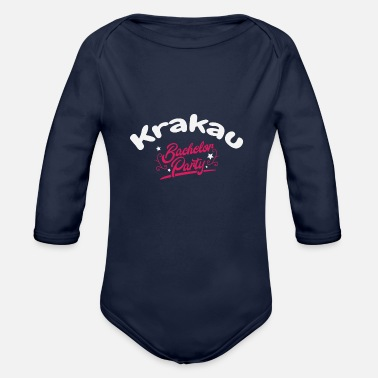 Game Over Bachelor Party Shirt Krakau Pre Wedding - Organic Long-Sleeved Baby Bodysuit