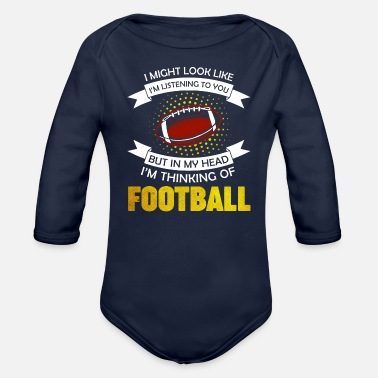 Sports Football - Organic Long-Sleeved Baby Bodysuit