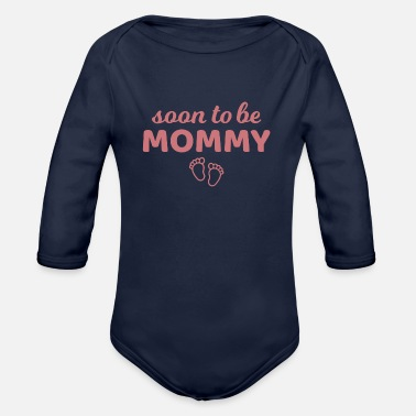 Couple Expectant mother pregnant mom gift - Organic Long-Sleeved Baby Bodysuit