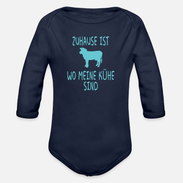 Horse Home cow farmer farmer gift - Organic Long-Sleeved Baby Bodysuit