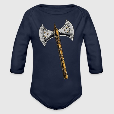 Medieval medieval axe - Organic Long Sleeve Baby Bodysuit