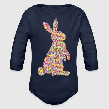 easter bunny / easter rabbit - Organic Long Sleeve Baby Bodysuit