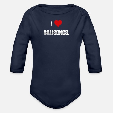 Balisong Balisong Love - for knife fans. - Organic Long-Sleeved Baby Bodysuit