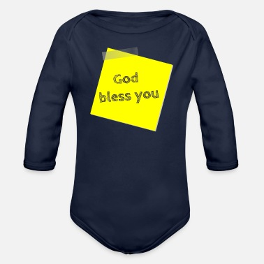 Bless You god bless you - Organic Long Sleeve Baby Bodysuit