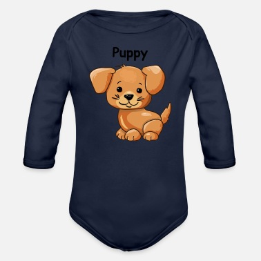Puppy Puppy - Organic Long-Sleeved Baby Bodysuit