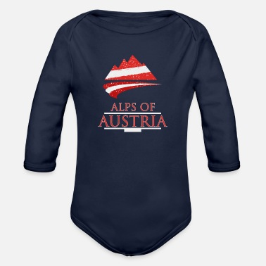Alps Alps of Austria - Organic Long Sleeve Baby Bodysuit