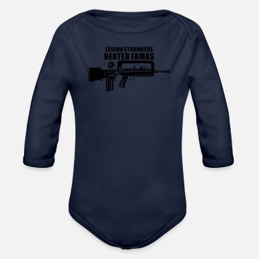 Foreign Word Famas French Foreign Legionnaire - Organic Long-Sleeved Baby Bodysuit