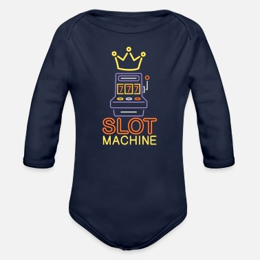 Machine Slot Machine - Organic Long Sleeve Baby Bodysuit