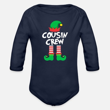 Cousin Cousin Crew Elf Family Matching Christmas - Organic Long-Sleeved Baby Bodysuit