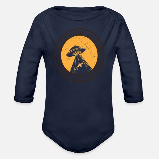 Easter Baby Clothing - Get in loser - Organic Long-Sleeved Baby Bodysuit dark navy