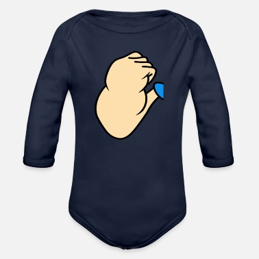 Muscles Muscle - Organic Long-Sleeved Baby Bodysuit
