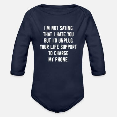 Provocation Provocative Offensive Funny Phone - Organic Long-Sleeved Baby Bodysuit