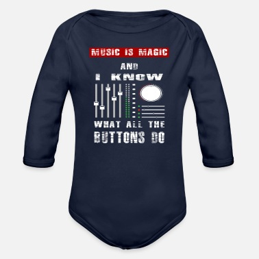 Dancehall Rave Trance Old School cool Gift Idea Tee - Organic Long-Sleeved Baby Bodysuit