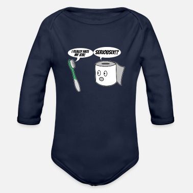 ToothBrush and Tissue - Organic Long-Sleeved Baby Bodysuit