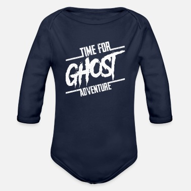 Ghost Time For Ghost Adventure Halloween Party Gift - Organic Long-Sleeved Baby Bodysuit