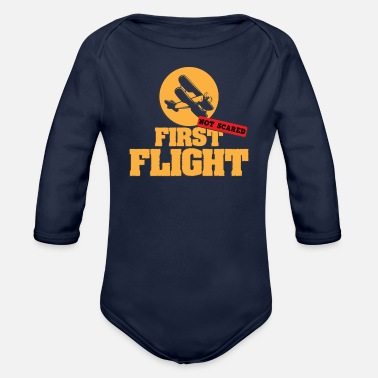 Flight Flight - Organic Long-Sleeved Baby Bodysuit