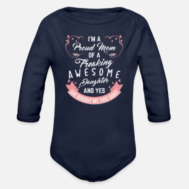 mom - Organic Long-Sleeved Baby Bodysuit