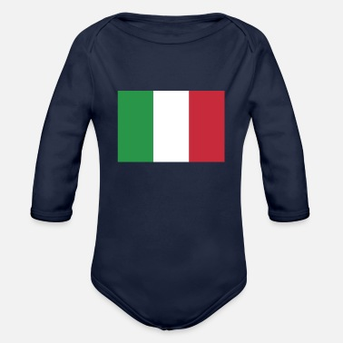 Italy Flag of Italy, Italys flag, flag Italy, Italy flag - Organic Long-Sleeved Baby Bodysuit