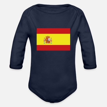 Spain Flag of Spain, Spains flag, flag Spain, Spain flag - Organic Long-Sleeved Baby Bodysuit
