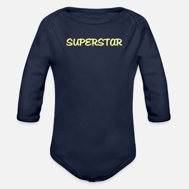 Superstar No SUPERSTAR - Organic Long-Sleeved Baby Bodysuit