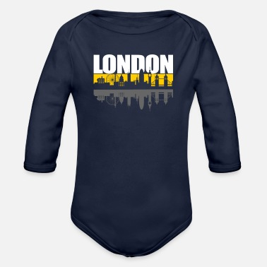 London London - Organic Long-Sleeved Baby Bodysuit