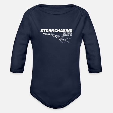 Stormchasers Stormchasing Elite Storm Viewer Photographer Shirt - Organic Long-Sleeved Baby Bodysuit