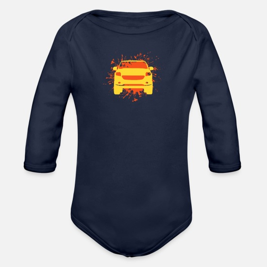 Gift Idea Baby Clothing - Driving - Organic Long-Sleeved Baby Bodysuit dark navy