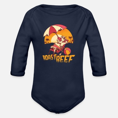 Roast Roast beef - Organic Long-Sleeved Baby Bodysuit