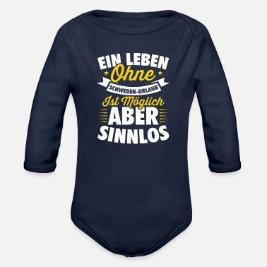Sweden sweden - Organic Long-Sleeved Baby Bodysuit