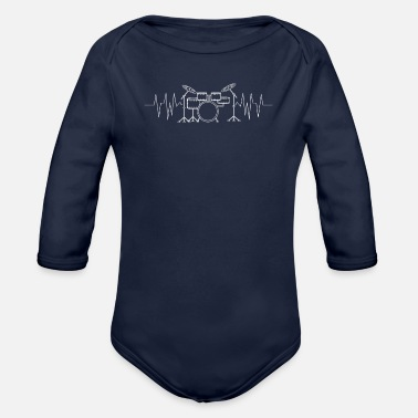 Drums drums - Organic Long-Sleeved Baby Bodysuit