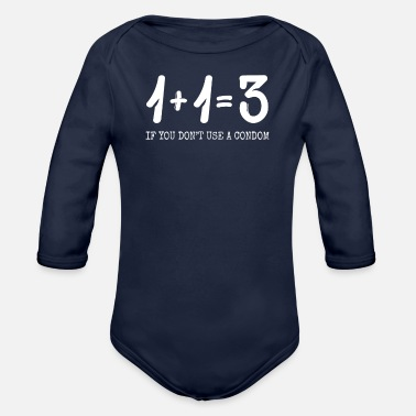 Funny funny quote - Organic Long-Sleeved Baby Bodysuit