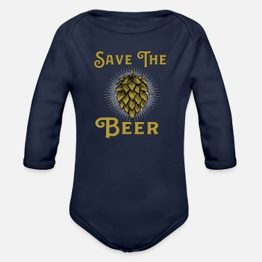 Veal Sausage save the beer - Organic Long-Sleeved Baby Bodysuit