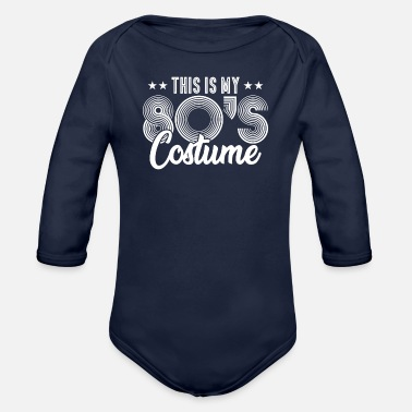 80s 80s Costume - Organic Long-Sleeved Baby Bodysuit