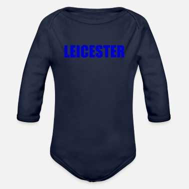 Leicester Leicester England - Organic Long-Sleeved Baby Bodysuit