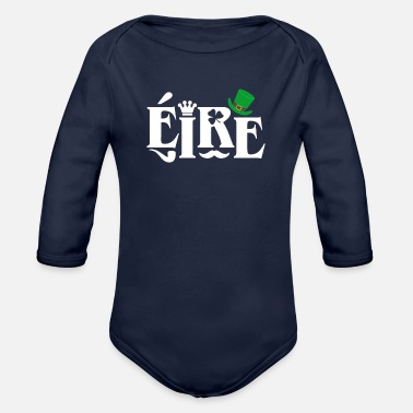 Ireland Ireland - Organic Long-Sleeved Baby Bodysuit