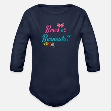 Boy Bows or burnouts? Boy or girl - Organic Long-Sleeved Baby Bodysuit