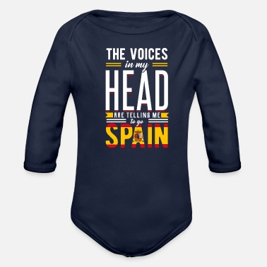 Spain spain - Organic Long-Sleeved Baby Bodysuit