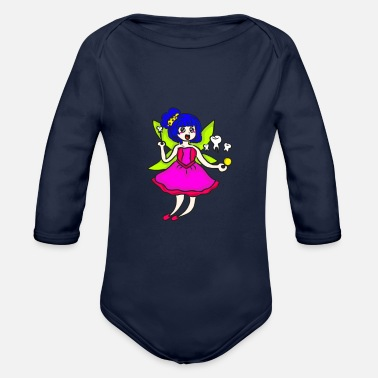 Rose Mardi Gras Tooth Fairy Costume Original Gift - Organic Long-Sleeved Baby Bodysuit